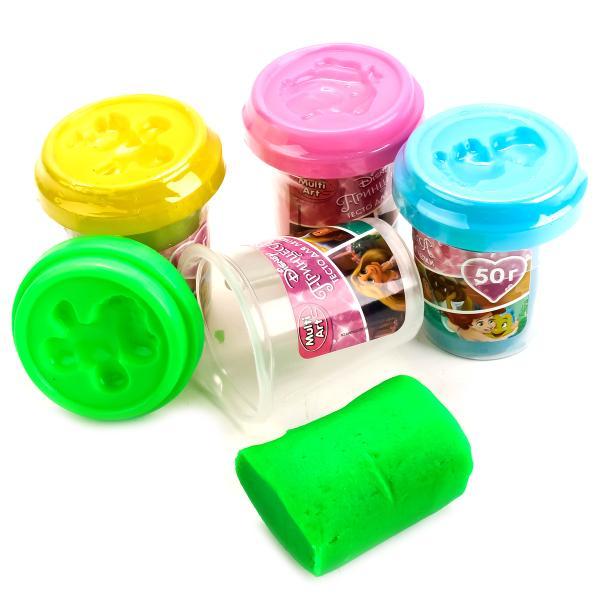 Набор Disney Принцессы - Тесто для лепки, 4 неоновых цветаНаборы для лепки<br>Набор Disney Принцессы - Тесто для лепки, 4 неоновых цвета<br>