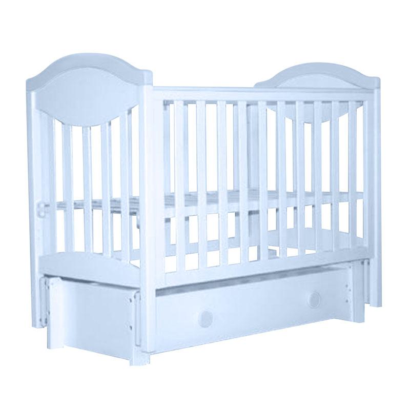 Детская кровать Лель АБ 23.3 маятник продольный, голубой