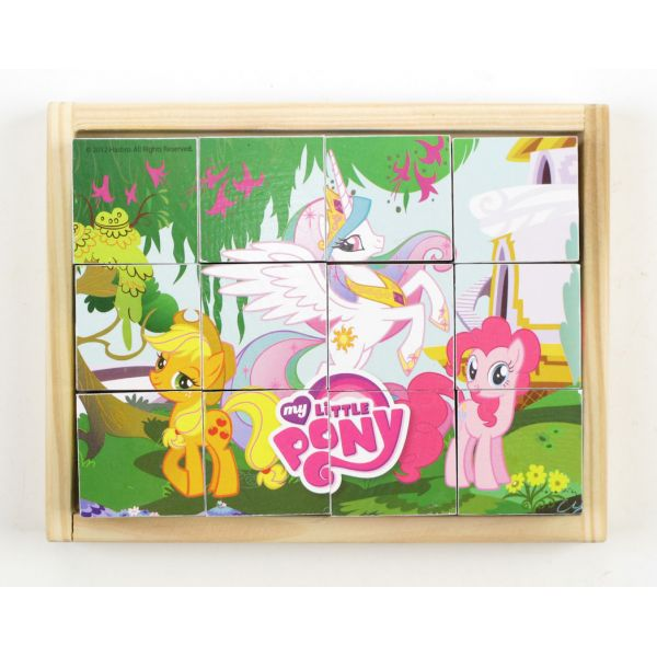 Деревянные кубики My Little Pony, 12 кубиковМоя маленькая пони (My Little Pony)<br>Деревянные кубики My Little Pony, 12 кубиков<br>