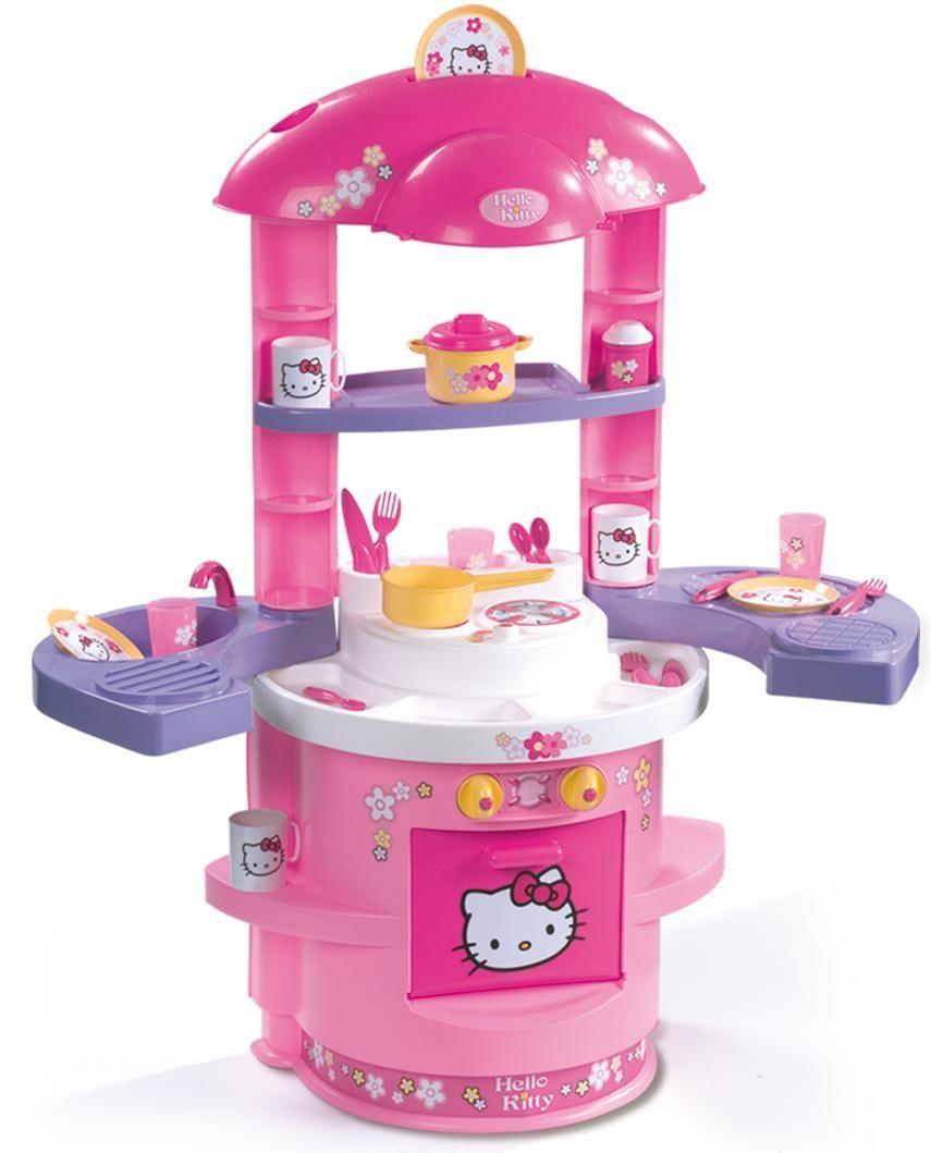 Детская кухня hello kitty smoby 24470