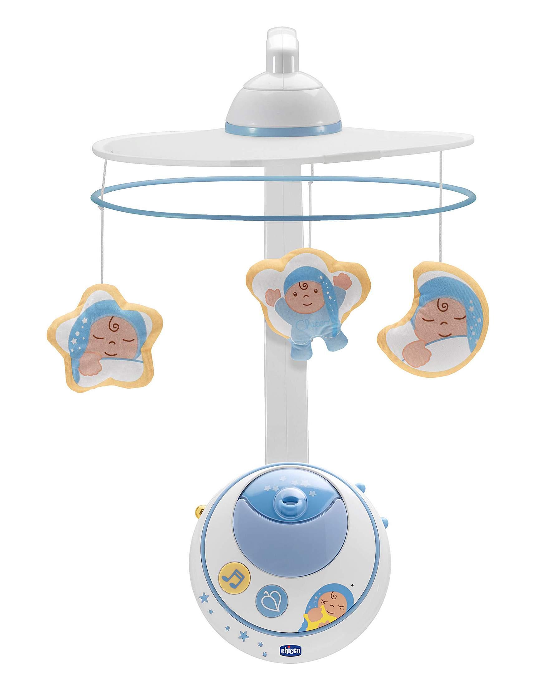 Купить Подвеска мобиль для кроватки - Волшебные звезды, голубая, на дистанционном управлении, Chicco