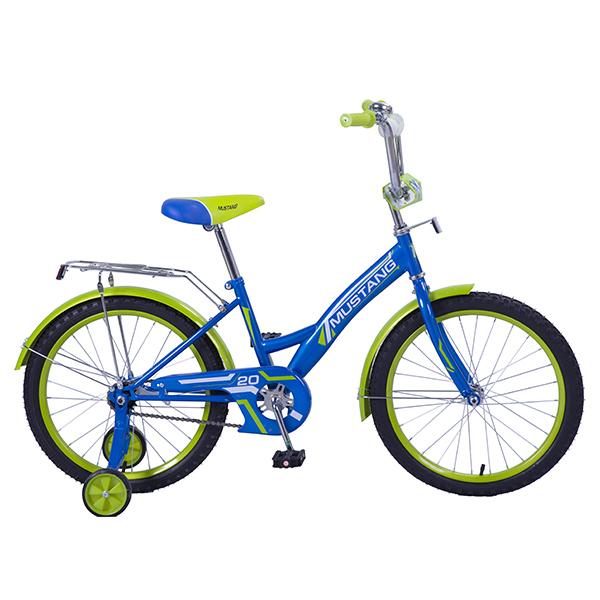 Детский велосипед – Mustang, 20, GW-тип, сине-салатовыйВелосипеды детские<br>Детский велосипед – Mustang, 20, GW-тип, сине-салатовый<br>