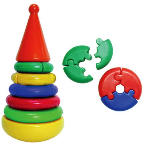 Купить Пирамидка Логика, Строим вместе счастливое детство