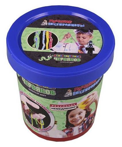 Микро-набор для экспериментов - Делаем цветных червяков - Зеленый, Научные технологии  - купить со скидкой
