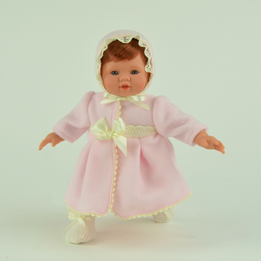 Кукла Тете в розовом пальто, 36 см.Куклы ASI (Испания)<br>Кукла Тете в розовом пальто, 36 см.<br>