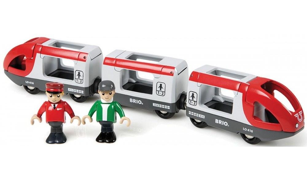 Пассажирский поезд-экспресс 5 элементов.
