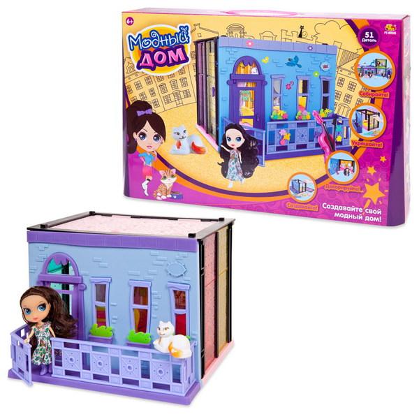 Кукольный домик из серии В гостях у куклы - Модный дом, в наборе с куклой и мебелью, 100 деталейКукольные домики<br>Кукольный домик из серии В гостях у куклы - Модный дом, в наборе с куклой и мебелью, 100 деталей<br>