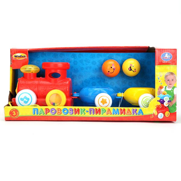 Развивающая игрушка Паровозик-пирамидкаСортеры, пирамидки<br>Развивающая игрушка Паровозик-пирамидка<br>