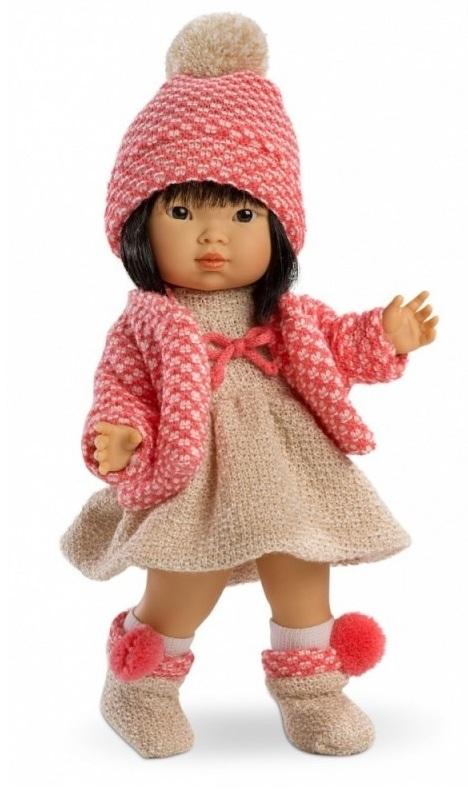 Кукла Валерия, азиатка, 28 смИспанские куклы Llorens Juan, S.L.<br>Кукла Валерия, азиатка, 28 см<br>