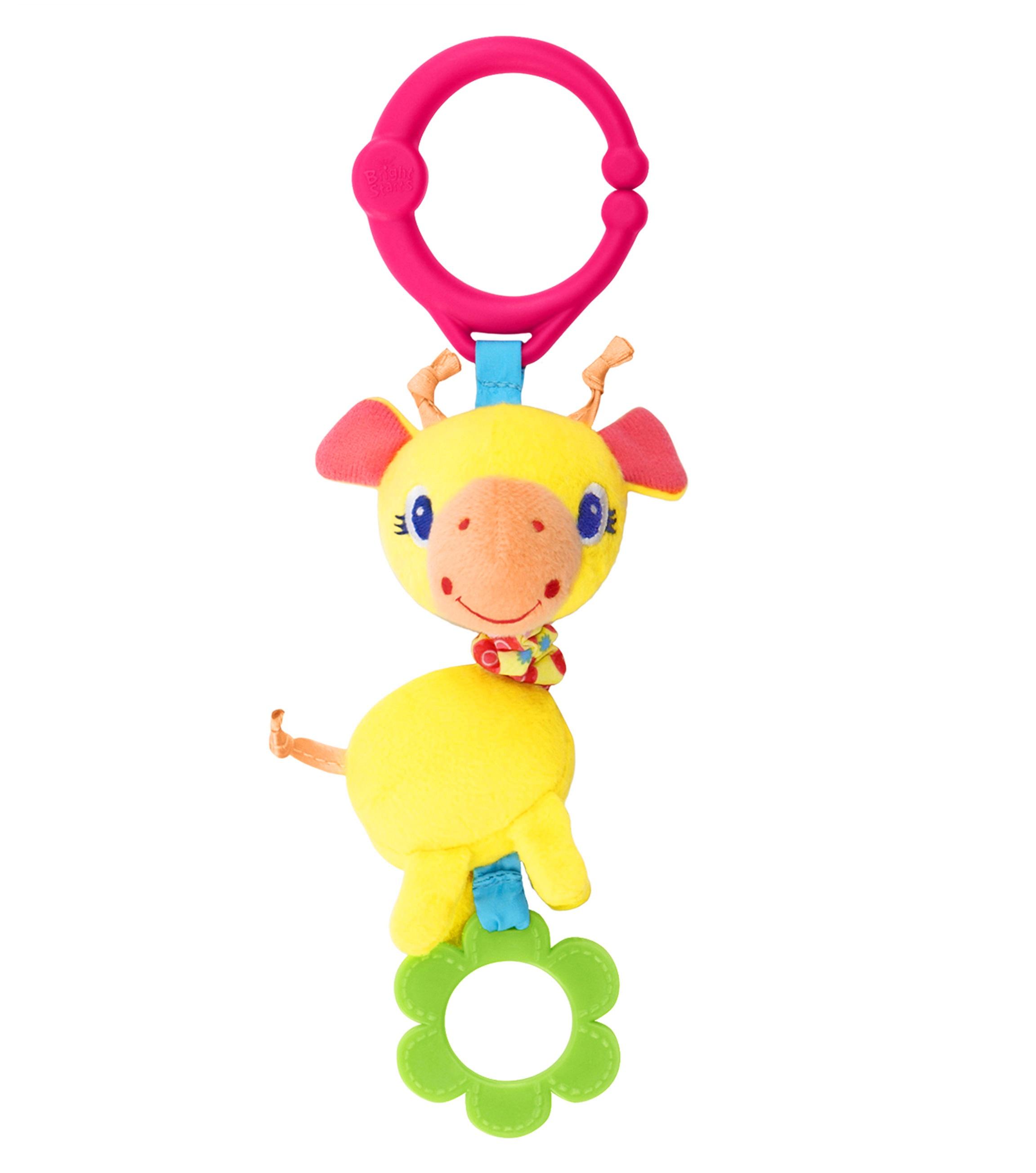 Развивающая игрушка «Дрожащий Дружок», ЖирафДетские погремушки и подвесные игрушки на кроватку<br>С симпатичным Жирафом можно не только поиграть, но и погрызть, когда чешутся зубки.<br>