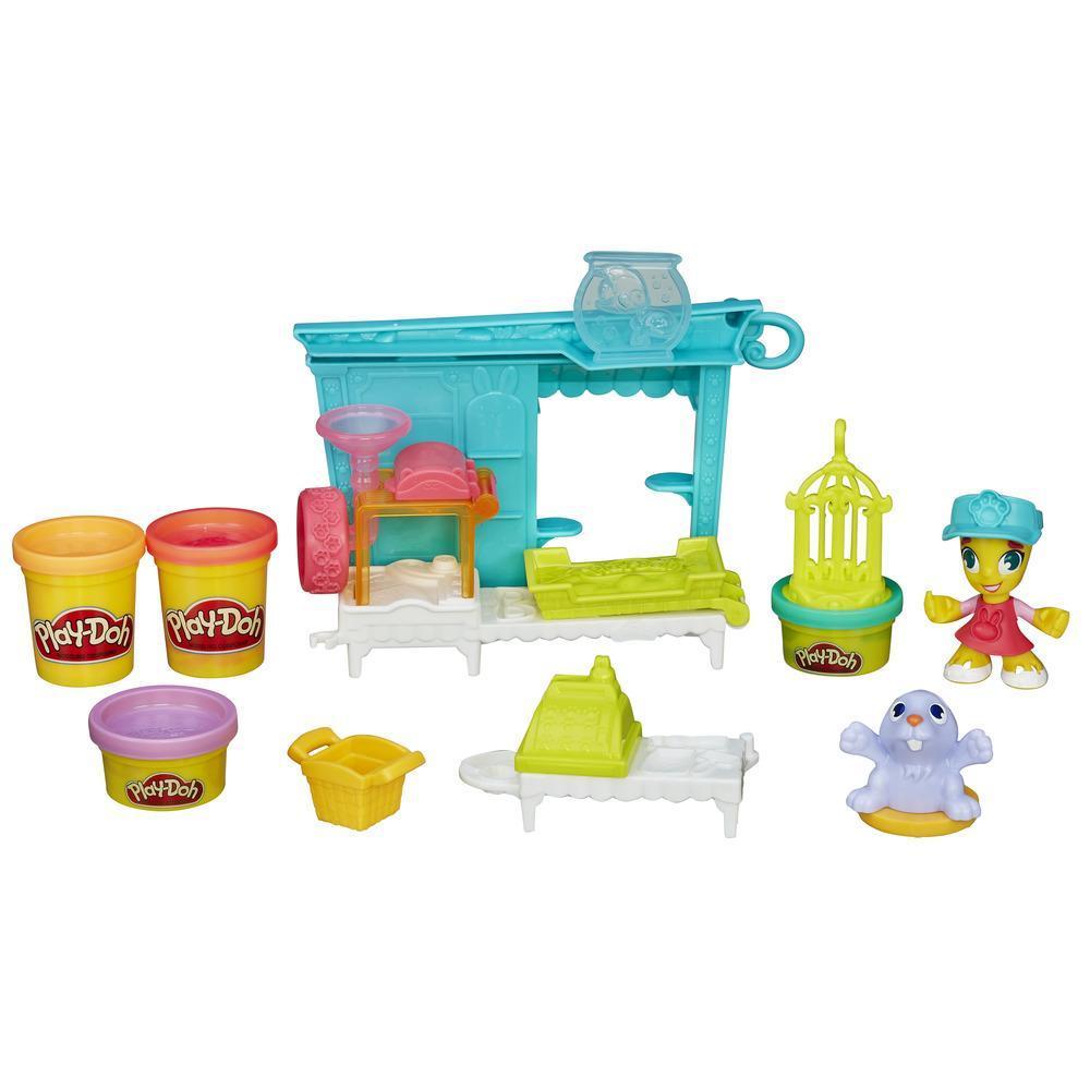 Play-Doh Игровой набор «Магазинчик домашних питомцев» из серии Город - Пластилин Play-Doh, артикул: 135112