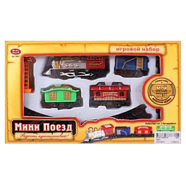Купить со скидкой Железная дорога с мини-поездом и аксессуарами, несколько цветовых вариантов