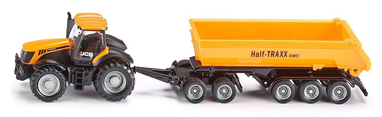 Купить Модель трактора с прицепом-кузовом, желтый, 1:87, Siku