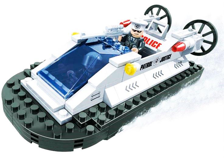 Конструктор Патруль. Полицейский катер, 137 деталейКонструкторы других производителей<br>Конструктор Патруль. Полицейский катер, 137 деталей<br>