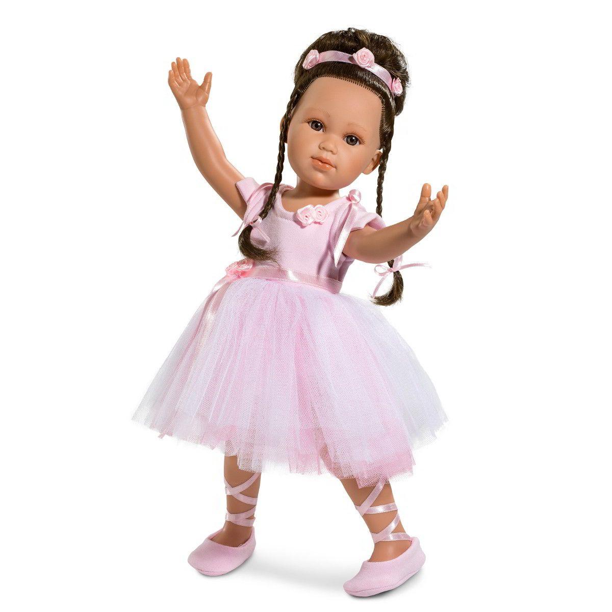 Кукла балерина Ольга, 42 смИспанские куклы Llorens Juan, S.L.<br>Кукла балерина Ольга, 42 см<br>