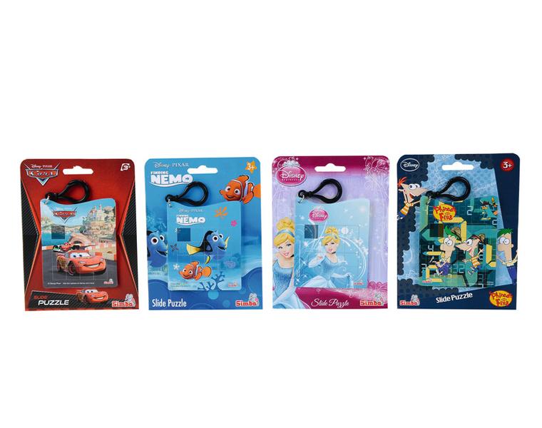 Пластиковая головоломка Дисней на брелокеГоловоломки<br>Пластиковая головоломка Дисней на брелоке (Simba, 9448403)<br>Любимые персонажи мультфильмов Диснея у Вас на брелоке. Разминка для пальчиков.<br>
