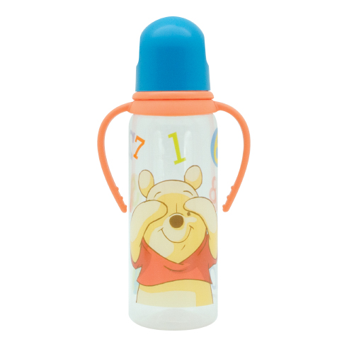 Бутылочка для детского питания из серии Медвежонок Винни с наконечником, силиконовой соской и ручкамиБутылочки<br>Бутылочка для детского питания из серии Медвежонок Винни с наконечником, силиконовой соской и ручками<br>