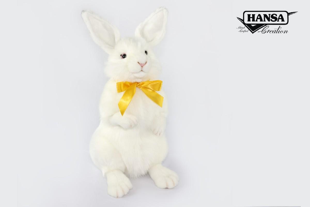 Купить Кролик белый, 37 см, Hansa
