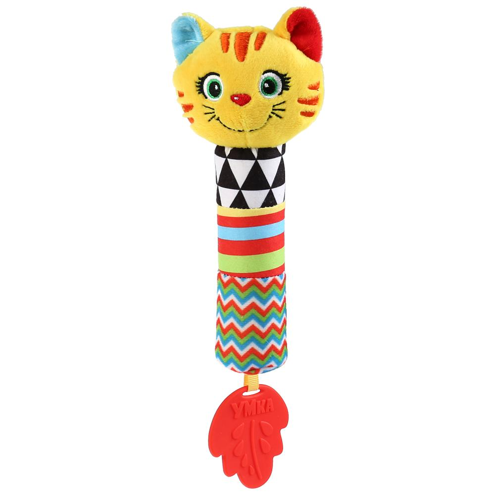 Текстильная игрушка пищалка - Котик фото