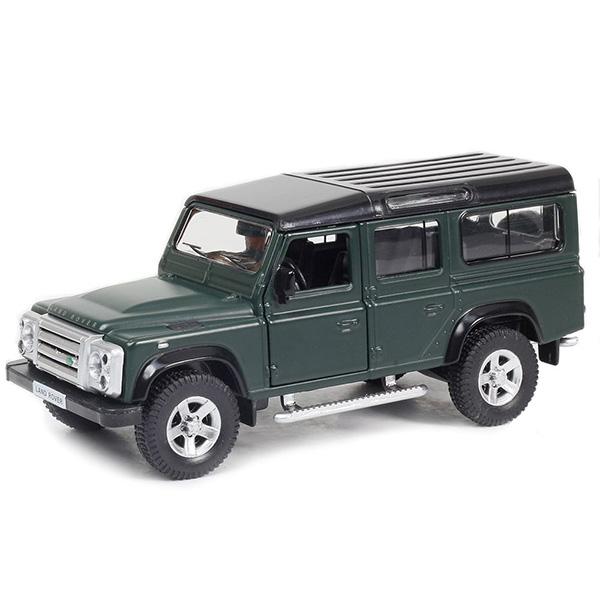 Купить Металлическая инерционная машина RMZ City - Land Rover Defender, 1:32, темно-зеленый матовый