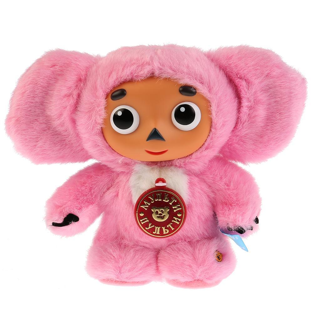 Купить Мягкая игрушка – Чебурашка с розовым мехом, русский чип, Мульти-Пульти