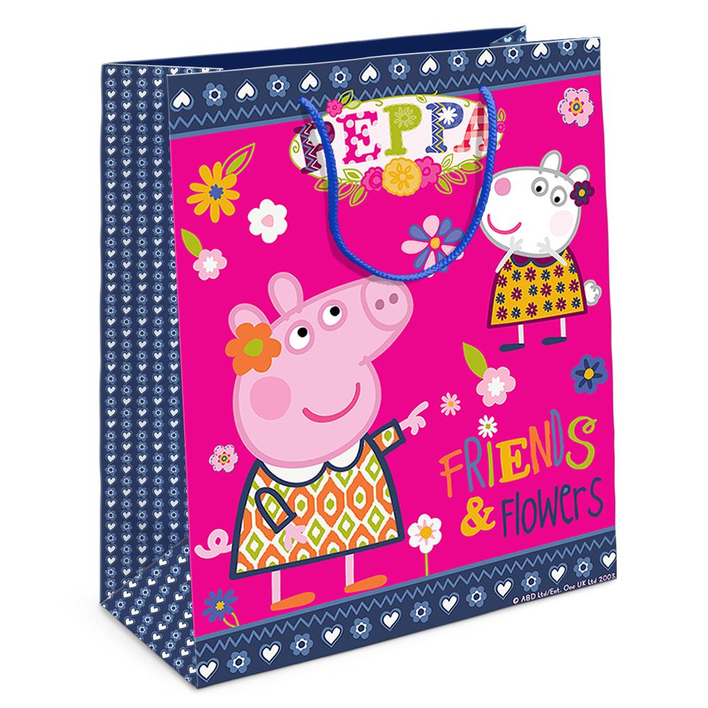 Купить Пакет подарочный – Свинка Пеппа и Сьюзи, 23 х 18 х 10 см., Росмэн