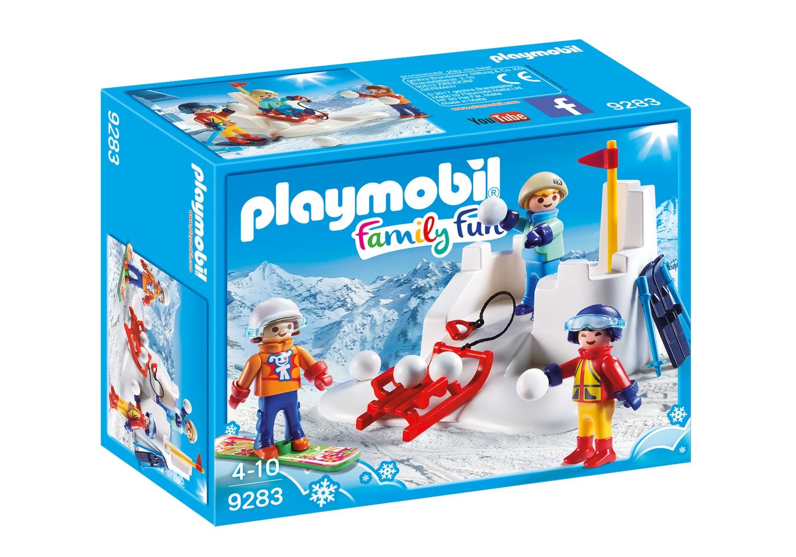 Купить Игровой набор из серии Зимние виды спорта - Снежки, Playmobil