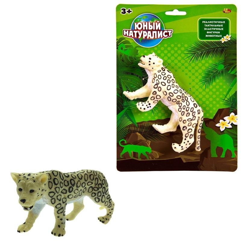 Фигурка из серии Юный натуралист – Леопард белый, термопластичная резина фото