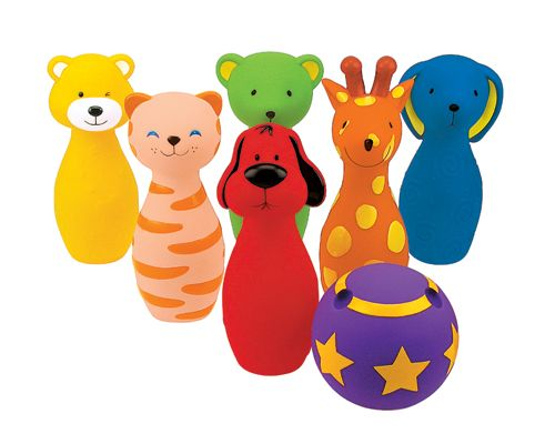 Боулинг цветной виниловыйРазвивающие игрушки Tiny Love<br>Развивающий набор для активных игр для малышей от 12 до 36 мес.<br>В комплекте 6 кеглей и 1 мячик из мягкого материала винила...<br>