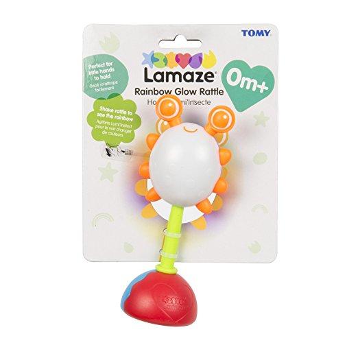 Погремушка жучок с радужной подсветкой lamaze tomy