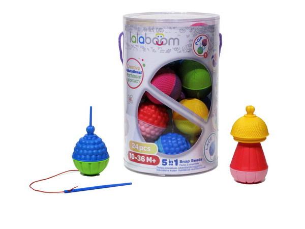 Игрушка развивающая Lalaboom, 24 предмета