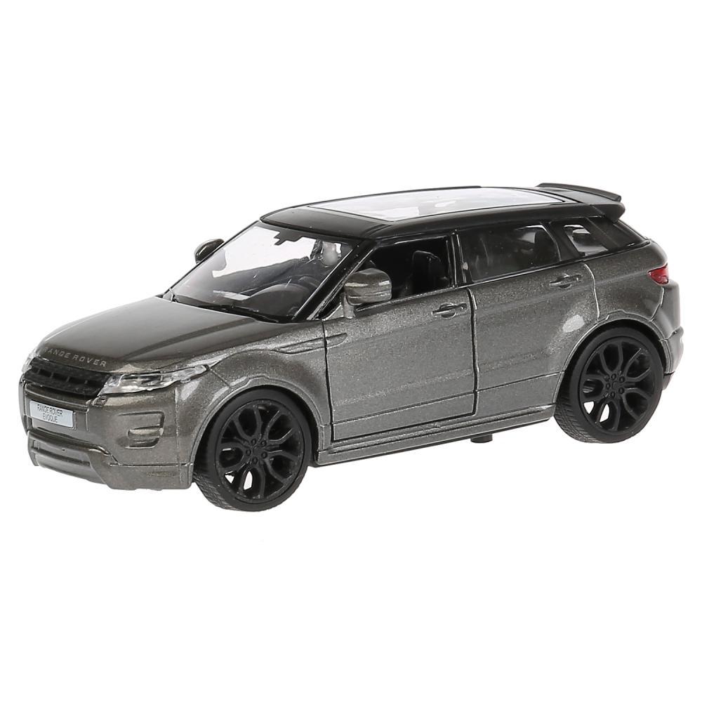 Купить Машина металлическая Land Rover Range Rover Evoque, серебристая, 12, 5 см, открываются двери, инерционная, Технопарк