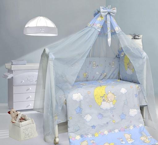 Бампер в кроватку - Павлуша, голубойБампер в кроватку<br>Бампер в кроватку - Павлуша, голубой<br>