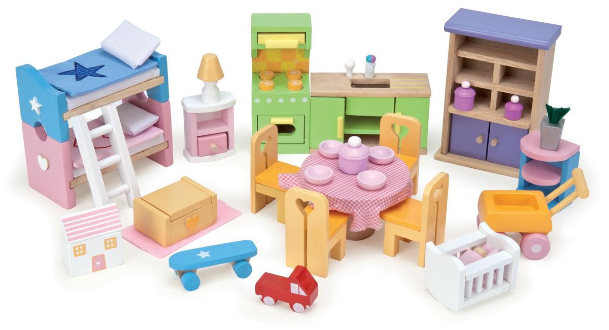 Набор игровой мебели для обустройства домика для кукол - Базовый наборКукольные домики<br>Набор игровой мебели для обустройства домика для кукол - Базовый набор<br>