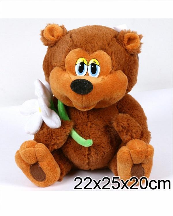 Мягкая игрушка – медвежонок из мультфильма Трям Здравствуйте озвученный 25 см..
