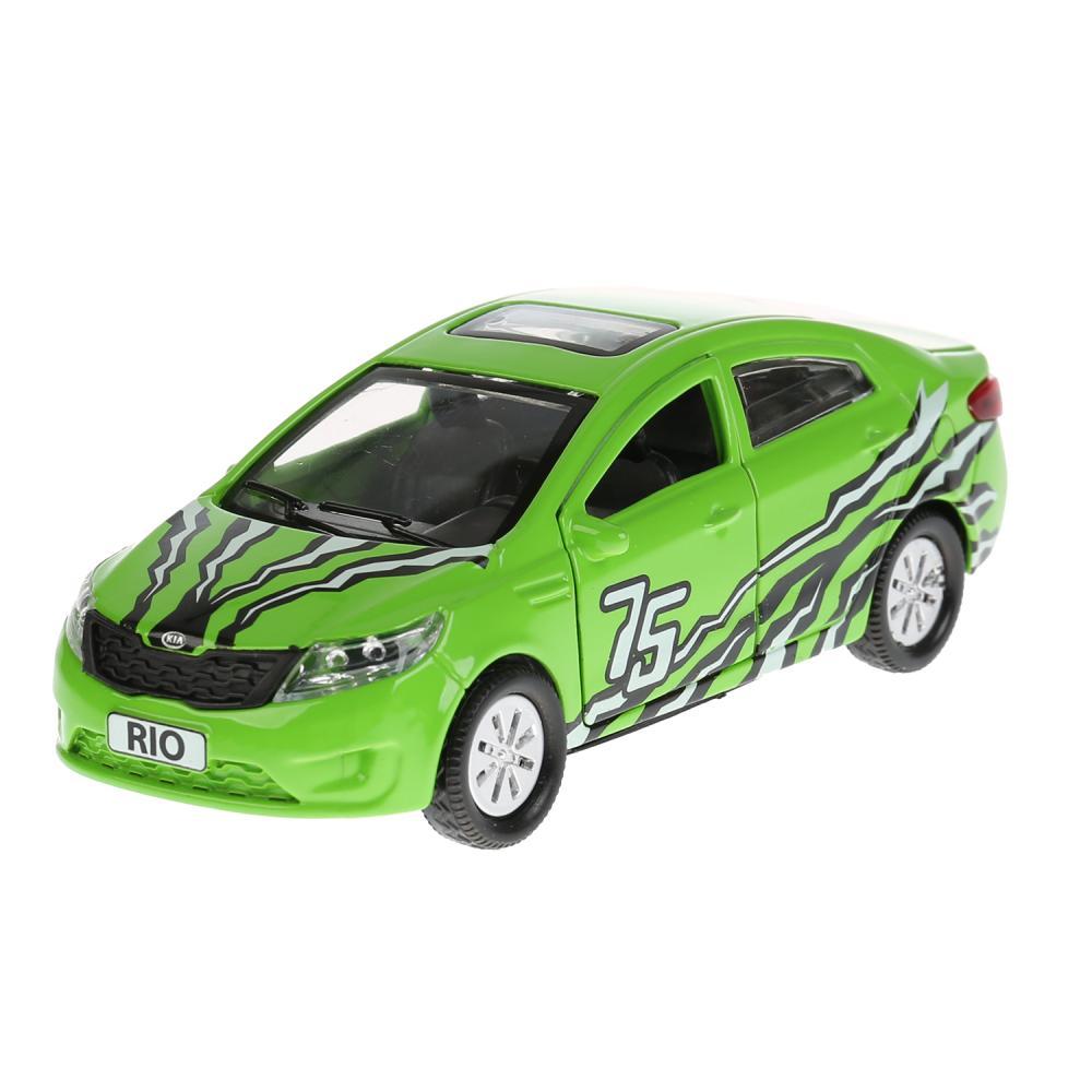Купить Машина металлическая Kia Rio Спорт 12 см, открываются двери и багажник, инерционная, Технопарк