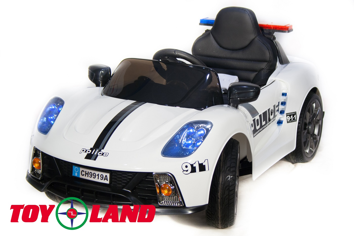 Электромобиль Police CH 9919 белого цвета