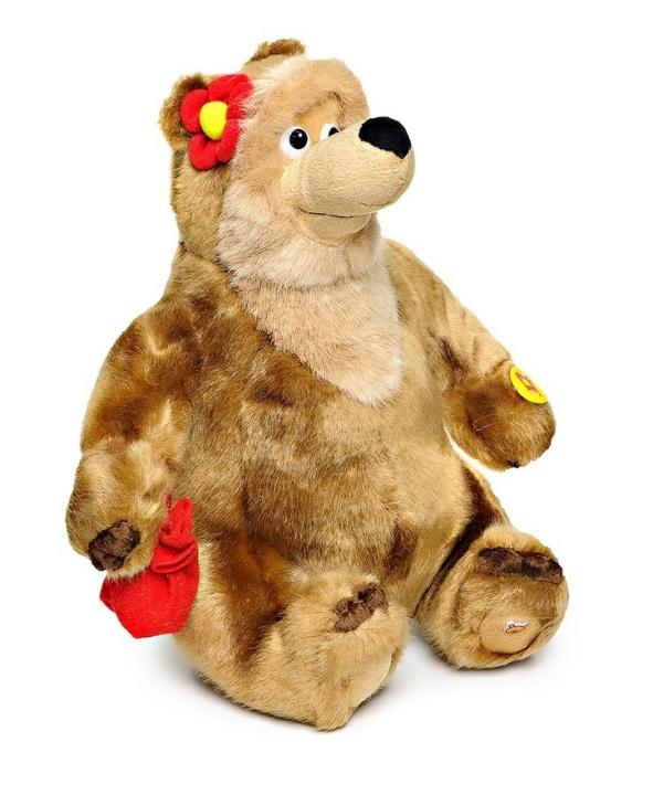 Мягкая игрушка Медведица по мотивам Маша и Медведь, озвученная, русский чипГоворящие игрушки<br>Мягкая игрушка Медведица по мотивам Маша и Медведь, озвученная, русский чип<br>