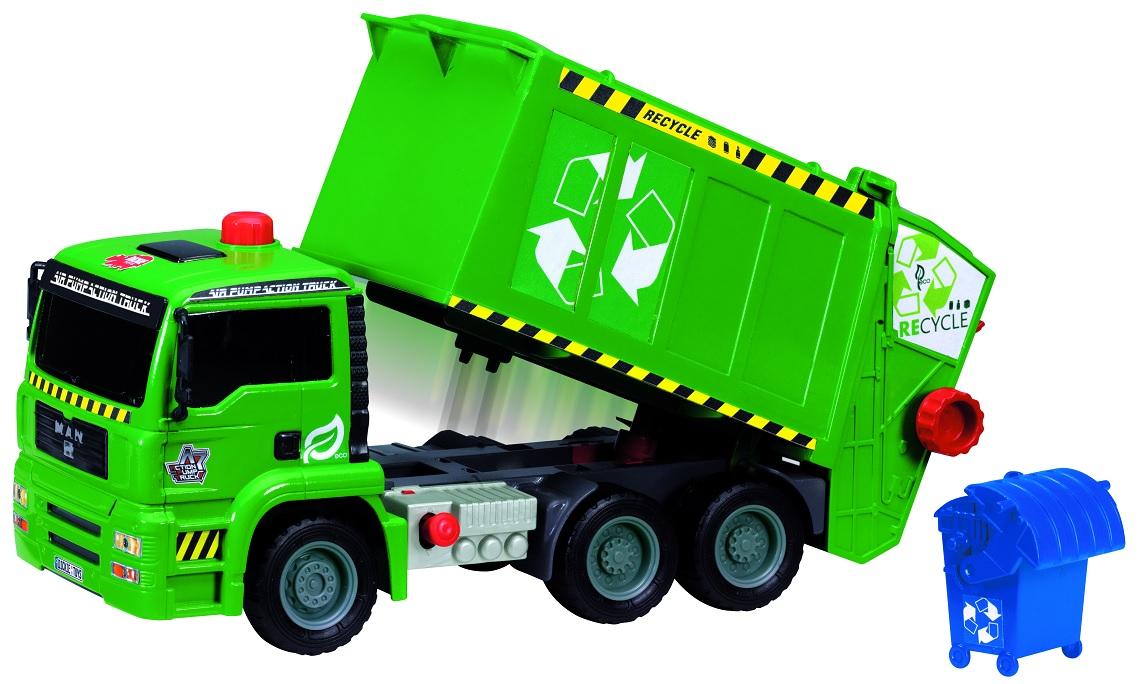 Мусоровоз с контейнером, Dickie Toys Air Pump, 31 см.Городская техника<br>Мусоровоз с контейнером, Dickie Toys Air Pump, 31 см.<br>