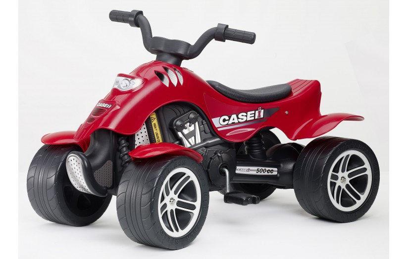 Квадроцикл красный педальный 84 см.