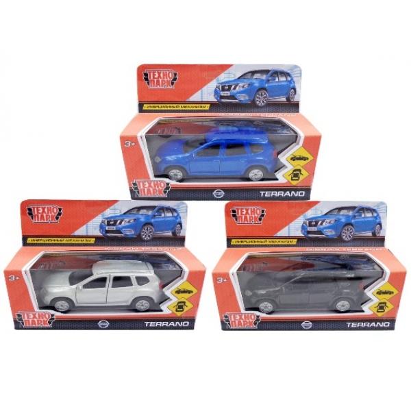 Купить со скидкой Машина металлическая инерционная Nissan Terrano 12 см., открываются двери, несколько цветов, Технопа