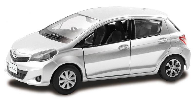 Металлическая машина - Toyota Yaris, 1:32, серебристый фото