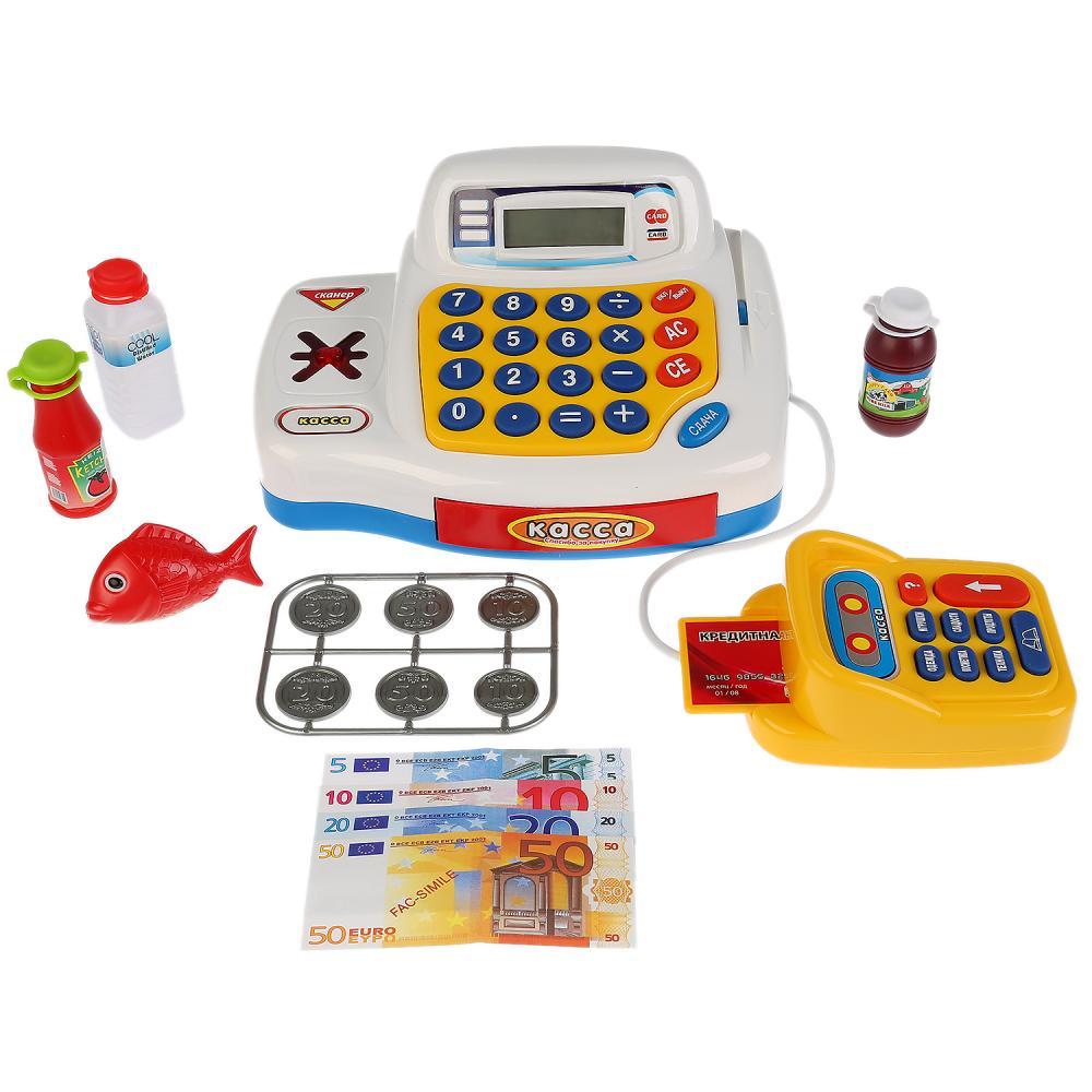 Купить Кассовый аппарат с ж/к дисплеем – Мой магазин, 16 аксессуаров, свет, звук, Play Smart