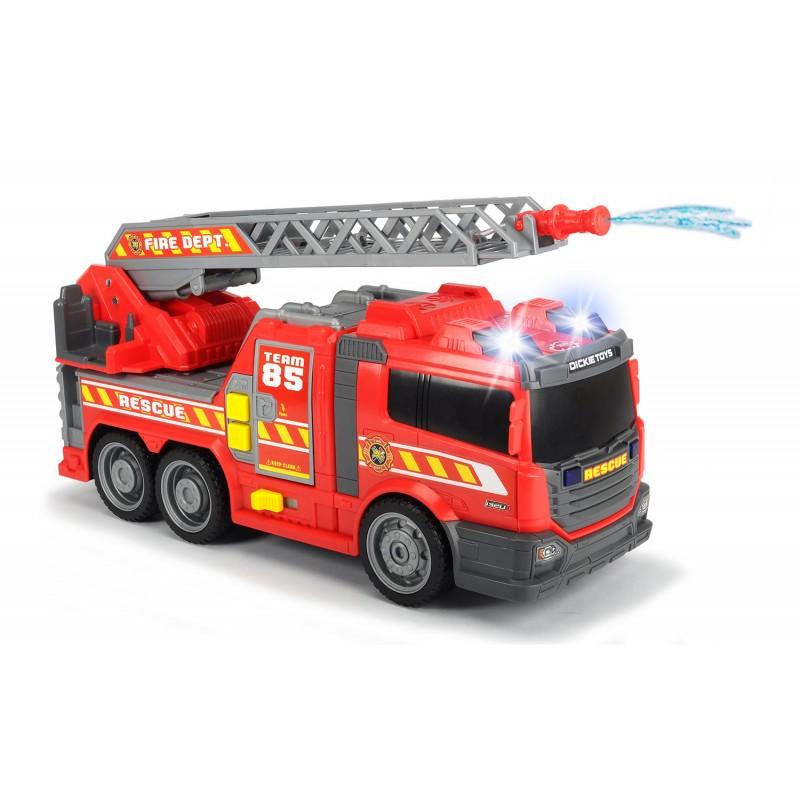 Пожарная машина с водой, свет и звук, свободный ход, 36 см.