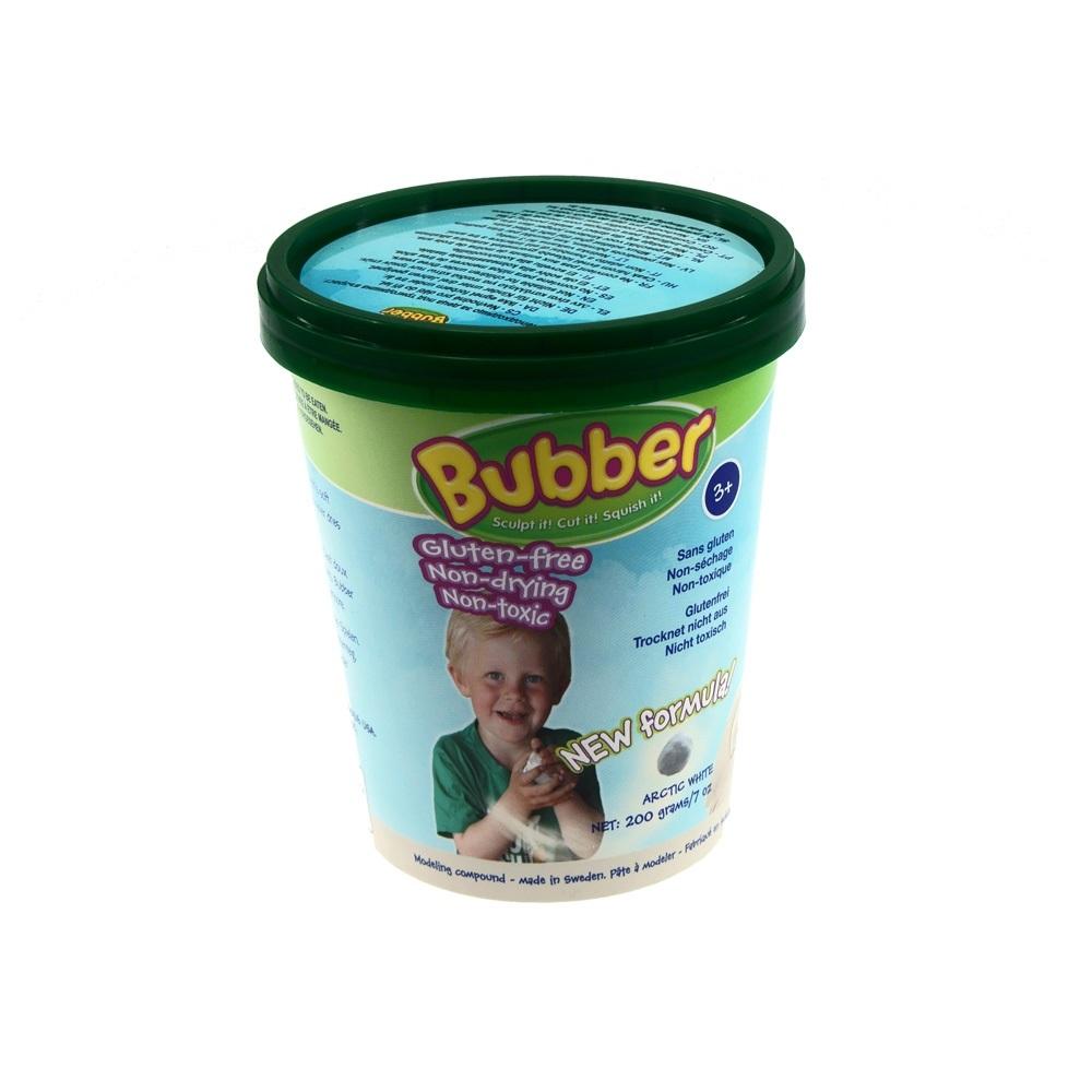 Масса для лепки Bubber белый цветКинетический песок<br>Масса для лепки Bubber белый цвет<br>