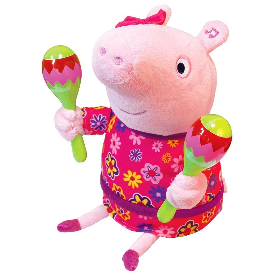 Купить Мягкая игрушка ™Peppa - Пеппа с маракасами, 30 см, звук, , Росмэн