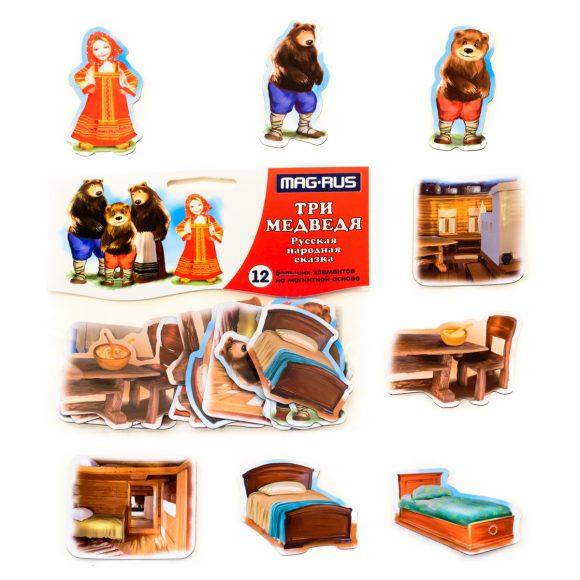 Магнитный театр - Три Медведя, 12 элементовДетский кукольный театр <br>Магнитный театр - Три Медведя, 12 элементов<br>