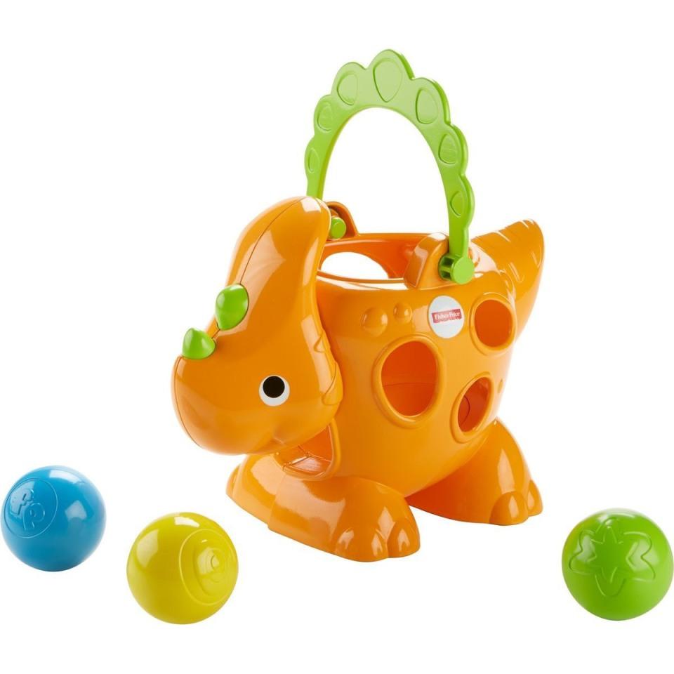 Развивающая игрушка - Fisher Price - Динозаврик - Играем с шарикамиРазвивающие игрушки Fisher-Price<br>Развивающая игрушка - Fisher Price - Динозаврик - Играем с шариками<br>