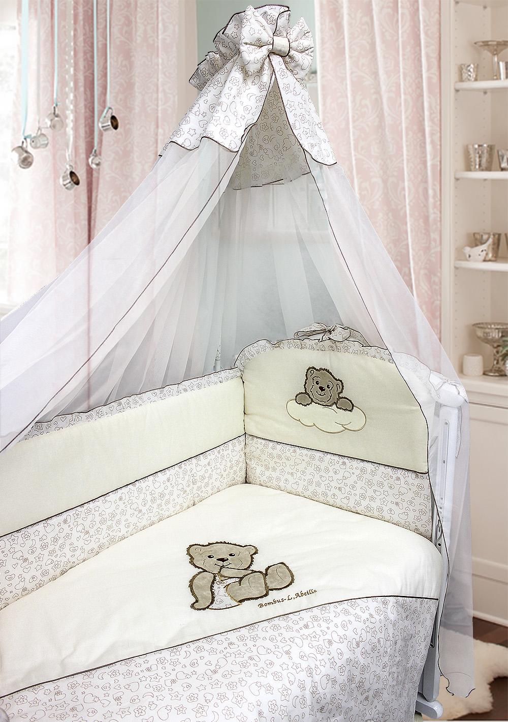 Комплект в кроватку - Мишка в штанишках, 7 предметовДетское постельное белье<br>Комплект в кроватку - Мишка в штанишках, 7 предметов<br>