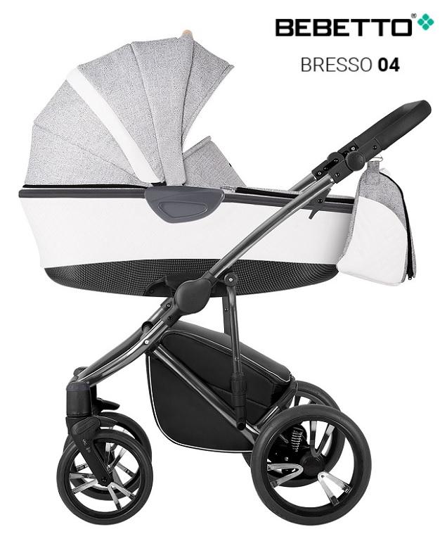 Купить Детская коляска Bresso Premium Class Chanel 2 в 1 – шасси хромированная - 04, Bebetto
